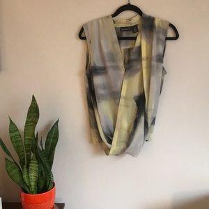 DKNY wrap blouse with elastic waistband